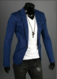 RT957 Mens Casual Dress Slim Fit One button Stylish Suit Blazer Coats Jackets