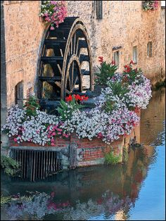 Watermill reflections, Bayeux, France   Flickr - Photo Sharing!