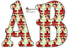 Alfabeto retro de Betty Boop.