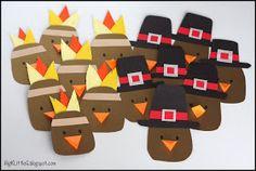Big K Little G: Thanksgiving Pilgrim and Indian Turkey Headband Hats