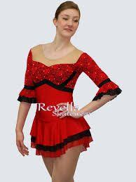 Resultado de imagen de figure skating red dress