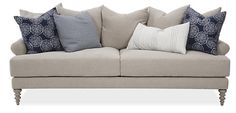 Elizabeth Linen Sofa, Oatmeal | The Comfort Zone | One Kings Lane