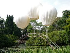 Pont de Singe is a Hanging Bridge Suspended by Helium-Filled Balloons in the UK | Inhabitat - Green Design, Innovation, Architecture, Green Building