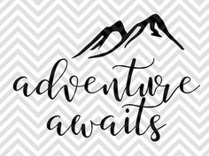 Adventure Awaits Adventure Arrow Wood Sign Farmhouse Camping Happy Camper SVG and DXF EPS Cut File • Cricut • Silhouette by KristinAmandaDesigns