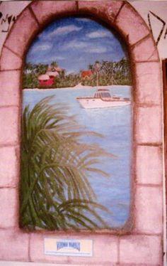 """Window"" Tropical Mural"