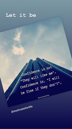 Confidence, Let It Be, Self Confidence
