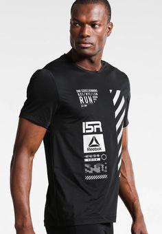 52014f7a25936 ONE - Print T-shirt - black   Zalando.co.uk 🛒. Pattern PrintFabric Material Sports ...