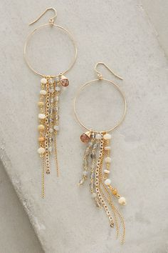 Chameli Fringed Hoops #anthropologie