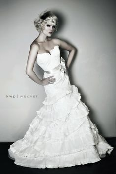 what i really love is the combo of lace at the top and those lovely layered ruffles at the bottom. by constance