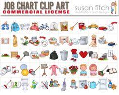 free printable chore clip art bing images chore chart rh pinterest com Household Chores Clip Art free printable chore chart clipart