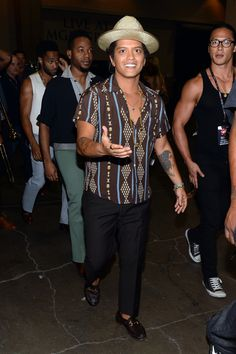 Bruno Mars no backstage