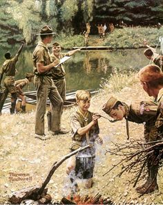 """""""SCOUTING"""" By: Norman Rockwell"""