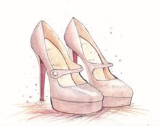 Nude Louboutins Art Print 5x7 by claireswilson on Etsy, $15.00
