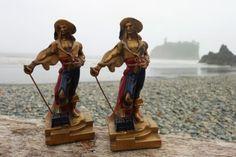 Vintage-1920s-1930s-Bronze-Pirate-Bookends-Art-Deco-Sea-Captain-Maritime-Antique
