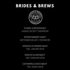 We have some exciting news to share with our Brides & Brews fans.  We are putting together several more social events that will feature other fantastic Knoxville Wedding Professionals.  You will not want to miss these upcoming events.  Please check out our event page and RSVP your free ticket to any of the events and share this with your friends!  #bridesnbrews #bride #knoxvillebride #knoxbride #knoxvillephotographer #knoxvilleweddingphotographer #knoxvillesocial #knoxvillebrewfest…