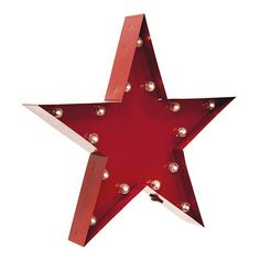 Ready your home for summer with this LED star marquee sign.