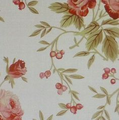 Bed of Roses, Small Roses by Red Rooster Floral Cotton Fabric
