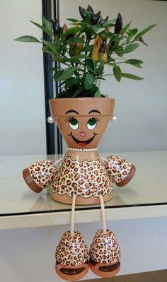 """Résultat de recherche d'images pour """"bonecos de vasos de ceramica"""""""