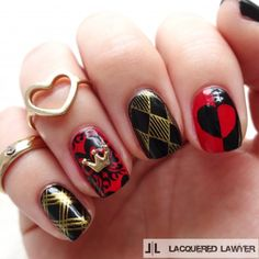 Queen of Hearts nails for grown ups.