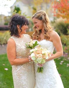 Take a candid photo with your mom before wedding festivities begin.
