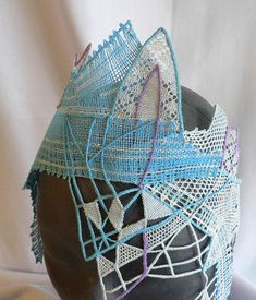 """Mask """"Ice Queen"""", graduation thesis, a combination of bobbin lace and sewn. Vesellenka ."""