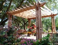 Hardwood decking and lumber make beautiful outdoor structures like a pergola