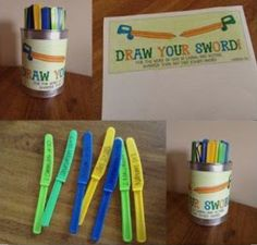 """Draw Your Sword"" game. A fun way to encourage familiarity with the scriptures. ( This is not my original idea or photo)"