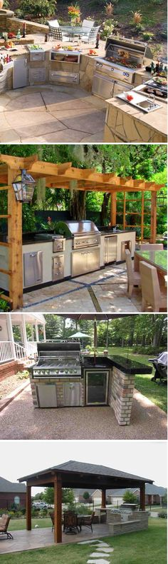 Get cooking on your awesome outdoor kitchen design ideas. Tags: … Get cooking on your awesome outdoor kitchen design ideas. Tags: The post Get cooking on your awesome outdoor kitchen design ideas. Backyard Kitchen, Outdoor Kitchen Design, Backyard Patio, Backyard Landscaping, Kitchen Plants, Patio Grill, Grill Area, Rustic Backyard, Kitchen Rustic