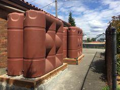 4 X 530 gallon slim line tanks #rainwaterharvesting