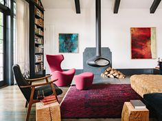 interior of Library House / designed by Jessica Helgerson Interior Design