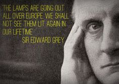 Sir Edward Grey lamps quote poster