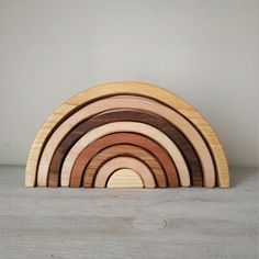 Rainbow/Wooden rainbow toy different types of wood