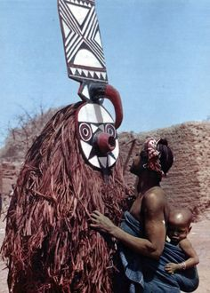 "Africa |  ""Bwa Plank"" Masquerader. 