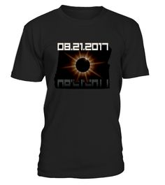 Celebrate the upcoming 8/21/2017 Total Solar Eclipse as it crosses the state of Oregon. This cool Eclipse Oregon T-Shirt makes a fantastic gift or souvenir of this historic event! You'll want to order one for each member of your eclipse viewing party   This shirt is perfect if you live in Oregon, and makes a great gift for friends, family and people who live along the totality path, including Newport, Corvallis, Silverton, Madras, and Prineville.
