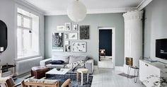 This Swedish apartment belonging to Emma Solveigsdotter  is absolutely beautiful. Emma has used tones along a spectrum of blue-green to mak...