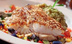 Fish is an excellent source of heart-healthy fat. Epicure Recipes, Fish Recipes, Seafood Recipes, Seafood Dishes, Fish And Seafood, Good Food, Yummy Food, Dinner For Two, Filets