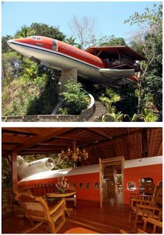 An airplane house/ i know I am weird, but I really wan to live in an old plane!!