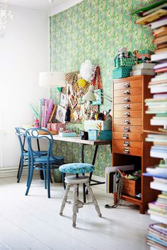 Eclectic and cheerful.