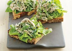 Three-Pea Chicken Salad ~ The ideal summer sandwich, cold and textured. Tuna fish works well too.