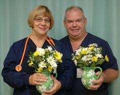 Congrats to these two nurses who were honored for their role in helping coordinate the care of a sick 6-day-old baby at PRMC.