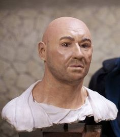 A facial reconstruction of a man who was killed during the Vesuvian eruption at Pompeii in AD 79.