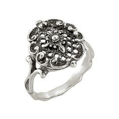 d'argento silberner Ring Dieser Ring aus Silber 925 Sterling erhält durch seine oxidierte Oberfläche ein antikes Finish. Der anlaufgeschützte Ring ist der ideale Begleiter zu Ihrem Trachten-Outfit.