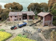 One of the best things about modern times is the ready availability of materials and supplies. Diorama, Model Train Layouts, N Scale, Model Trains, Scale Models, Things To Come, House Styles, Fairies, Fields