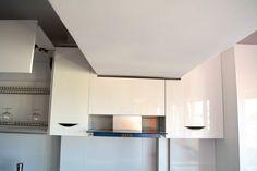 Mobilier de Bucatarie MDF vopsit lucios Rosu Ferrari Alb RAL 9003 mascare tub hota Ferrari, Kitchen Cabinets, Home Decor, Decoration Home, Room Decor, Kitchen Base Cabinets, Dressers, Kitchen Cupboards, Interior Decorating