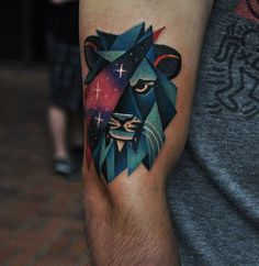 awesome Geometric Tattoo - #leo, #tattoo,...