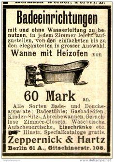 Original-Werbung/ Anzeige 1897 - BADEEINRICHTUNGEN - ZEPPERNICK & HARTZ - BERLIN - ca. 45 X 60 mm