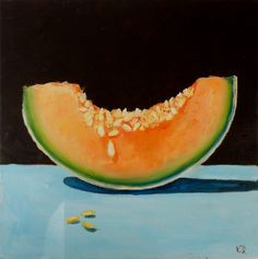 FINEARTSEEN - Juicy melon by Vita Schagen. Find the perfect artwork for your home or space. An original artwork available on FineArtSeen l The Home Of Original Art. Enjoy FREE DELIVERY on every order. Art for art lovers, interior designers and project managers. << Pin For Later >>