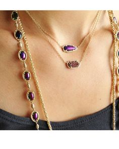 Skylie Pendant Necklace in Black Iridescent - Kendra Scott Jewelry