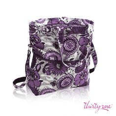 Our Retro Metro Fold-Over in Plum Awesome Blossom welcomes spring with a bloom!