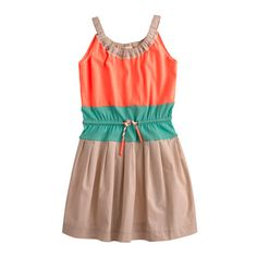 Girls' color block dress *** Martha FAVE**